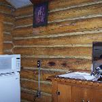  The &#39;kitchen&#39; area in a Hadley&#39;s Motel cabin, such as it is