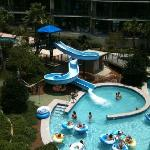 view of the water slide