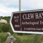  Trail signage on Clare Island.