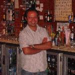 Jeff behind the bar