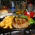 das leckere Steak