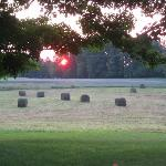 Sunrise at haying time on Moore's Hill