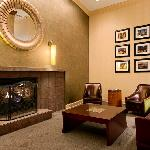 Hilton Philadelphia Airport Lobby Fireplace