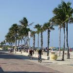 The Hollywood beach Board Walk