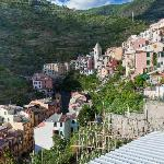  Houses along the hillside in Manarola