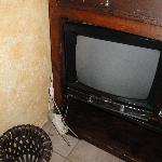 TV held together with cellotape