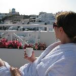 Enjoy an espresso on the deck in your robe!