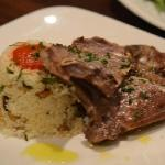  lamb chops with cous cous