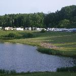 View of modern camping area
