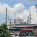 Zoomed view of the mosque.