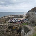 looking down to Coverack harbour