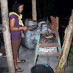  Jenny grilling the fish