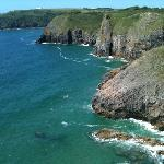 view from Lydstep headland
