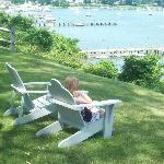  kids in Adirondack chairs