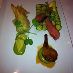 4th course - squab & goat cheese