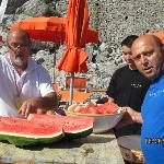 Piccoletto  & his friendly team brought out the watermelon on Sunday