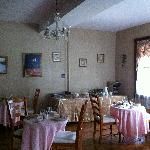 The breakfast/dining room.