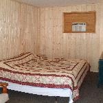Motel #23 has been renovated with knotty pine