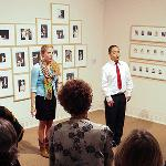 "Sacrificial Poets performing in ""Big Shots: Andy Warhol Polaroids"" exhibition, 2010."
