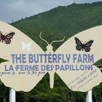 The Butterfly Farm is easy to find and well marked