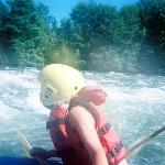 White water...it was hard to get action pics cause we were paddling