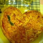  E la sorpresa, la pizza a forma di cuore