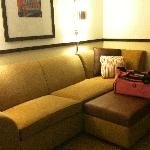 view of super long couch