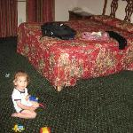 My son in the bedroom