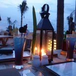  candlelit dinner looking out over the beach