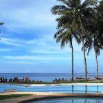 view of the pool and Camiguin shores