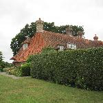 Hedge, Lawn and Farmhouse