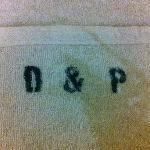  Printed hotel initials on towels.
