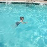  Swimming in the pool at Staybridge Suites, North Dallas