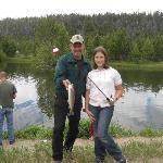 Great time fishing for the kids at the Stanley Hatchery
