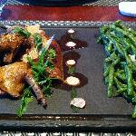 Pigeon with French beans