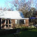 the self contained Cottage, with spa pool at rear