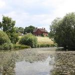 View of West End Farm from the lake