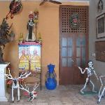 In the entryway of La Casa de Los Venados