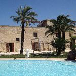 Masseria view from pool side