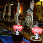 Selection of real ales at Skinners Brewery