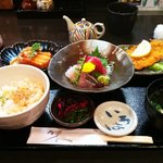 zenmai lunch set at Akira