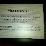  Sign in lobby asking everyone to rate them a &quot;10&quot;!