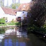 View of the mill and pond
