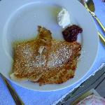Swedish Pancakes with fresh cream - AMAZING!