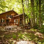  The Lincoln is a comfortably appointed log cabin set in a private woods.