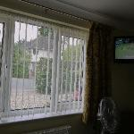 10) Front garden view and television at Finches B&B 03.07.11 1602