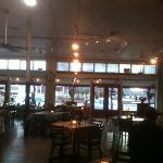 Redbud Cafe interior: historic Blanco hardware store