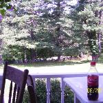  relaxing by the porch with a favorite bottle of soda