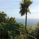  View from the gardens on the cliff top