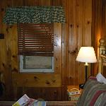  Bed and window of the cabin.